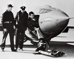 Chuck Yeager In Front Of Supersonic