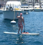 Catalina Paddle board, waving